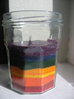 Recycled crayon candles...so doing this with all my broken crayons!
