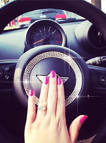 Bling my car up with diamonds! Girly car accessories for MINI Cooper.