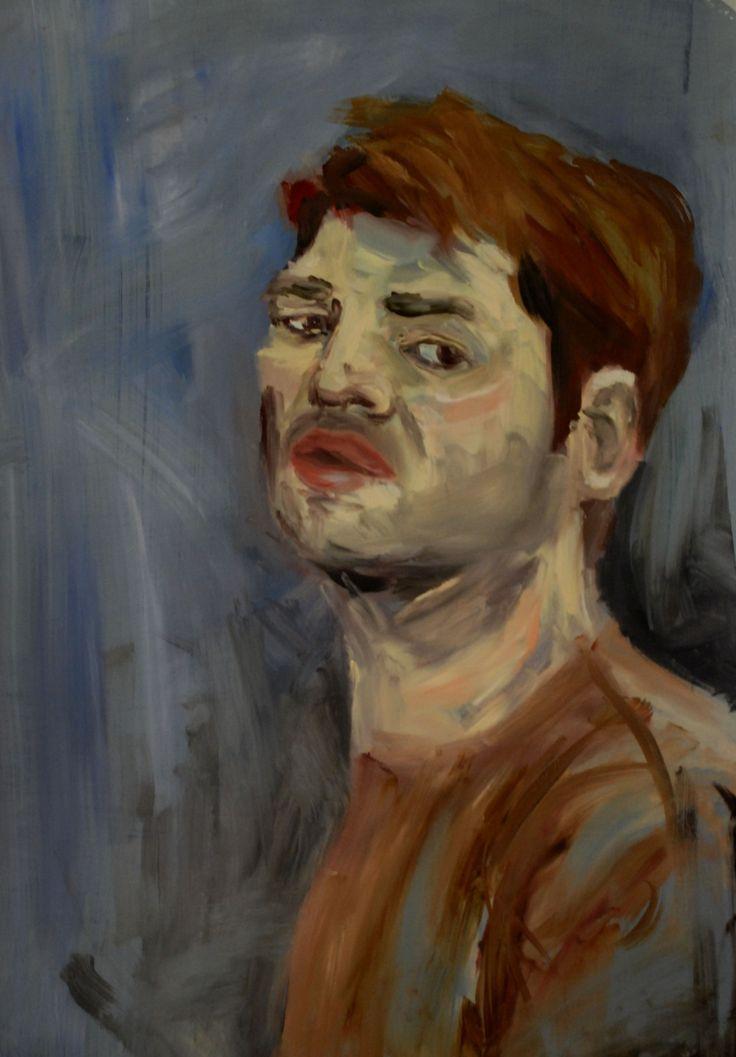Selfi by David Nemeth (oil on paper)