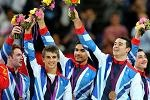 Great Britain's gymnasts (from left to right): Daniel Purvis, Max Whitlock, Louis Smith, Kristian Thomas and Sam Oldham