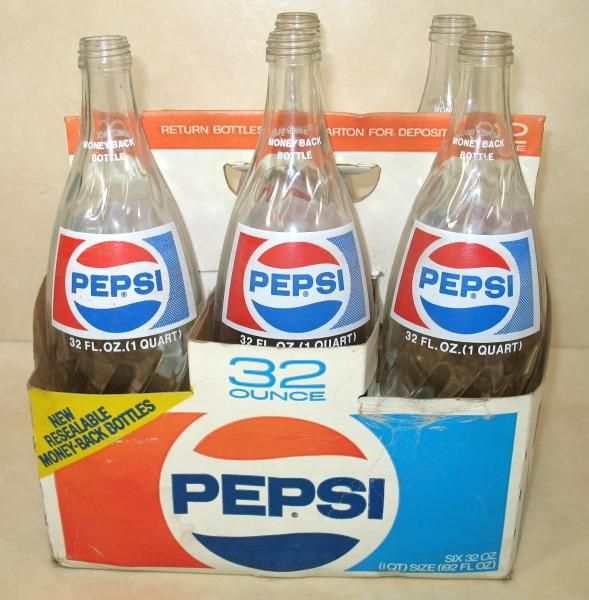 We drank Pepsi from glass bottles and returned the bottles to the store to collect the deposit.