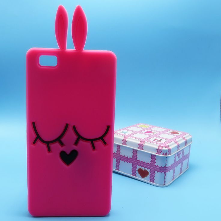 Phone case For Huawei Ascend P8 lite case 3D Hello Kitty Stitch Minions Rabbit Bunny Rubber Case For Huawei P8lite Back Cover