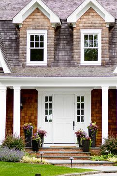 Wood exterior with white trim, and other beautiful house photos. My Houzz: Iris Dankner: