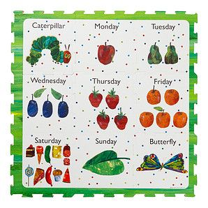 The Very Hungry Caterpillar Days Of The Week Playmat