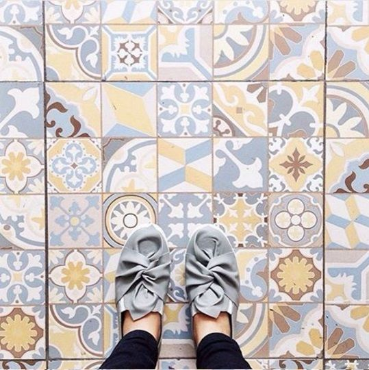 HABITAT | SICILIA Classico | 50x50 | Floor Tile  By @marieta.eu Taken at Panties Pizza Solo