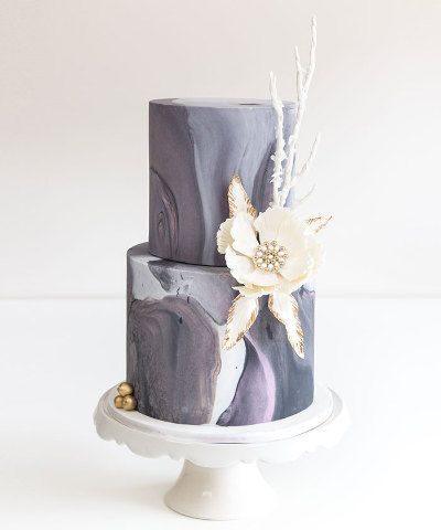 Cake Teacher Marble Fondant Techniques Wedding Cakes