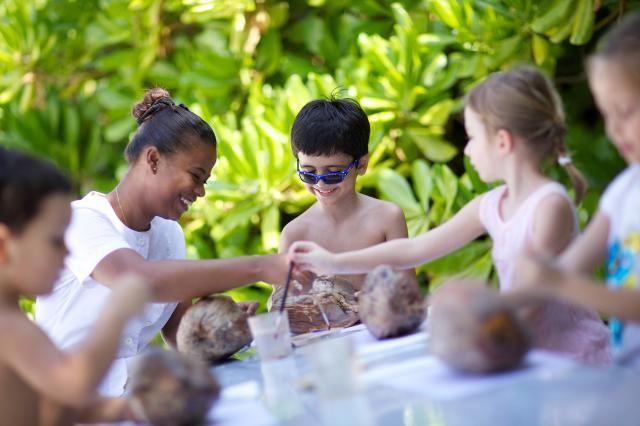 The kids having fun at the Kanuhura Resort & Spa, Maldives  kids club #activitues #fun #qualitytime