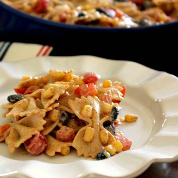 A cool and creamy pasta salad with a southwestern kick!