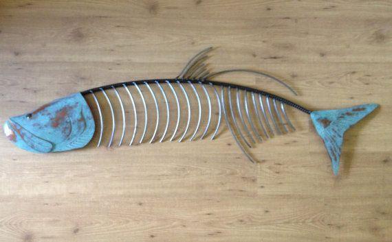 Tarpon Fish  Metal Wall Sculpture art Tropical Coastal Beach