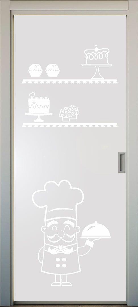 VInilo translucido para puertas de cocina. #lovevinilos