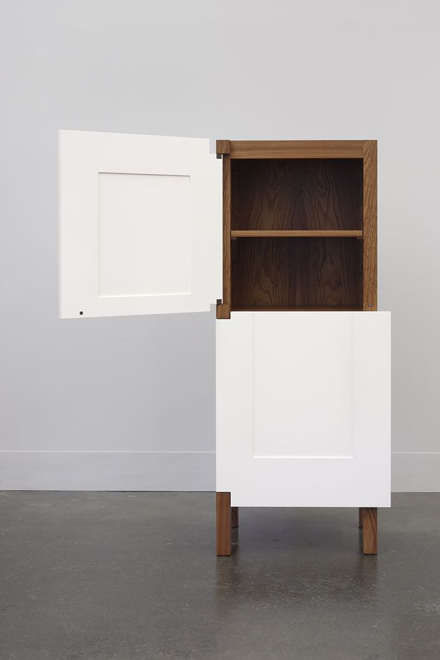Roy McMakin makes the familiar strange in a new show of domestic furniture at Lora Reynolds Gallery | Design | Wallpaper* Magazine McMakin's 'A One Door Two Door Cabinet', 2014. Courtesy of Lora Reynolds Gallery. Photography: Mark Woods