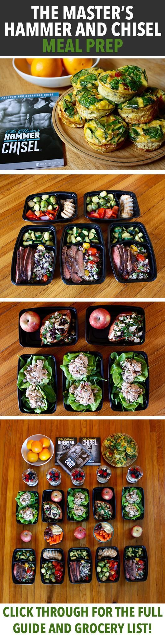 Plastic containers for weekly meal prep!  How to Meal Prep for The Master's Hammer and Chisel - Click through for the full grocery list and prep plan to help you fuel your body and get the best