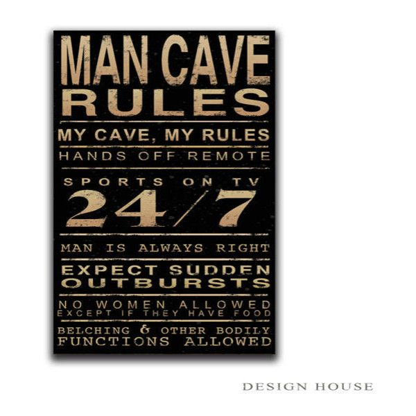 Wall Decor Man Cave Signs : Man cave wooden plaque decor