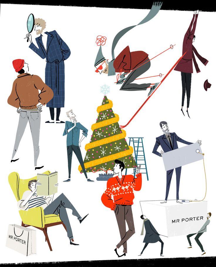 4856 best christmas images on pinterest drawings for Mr porter logo