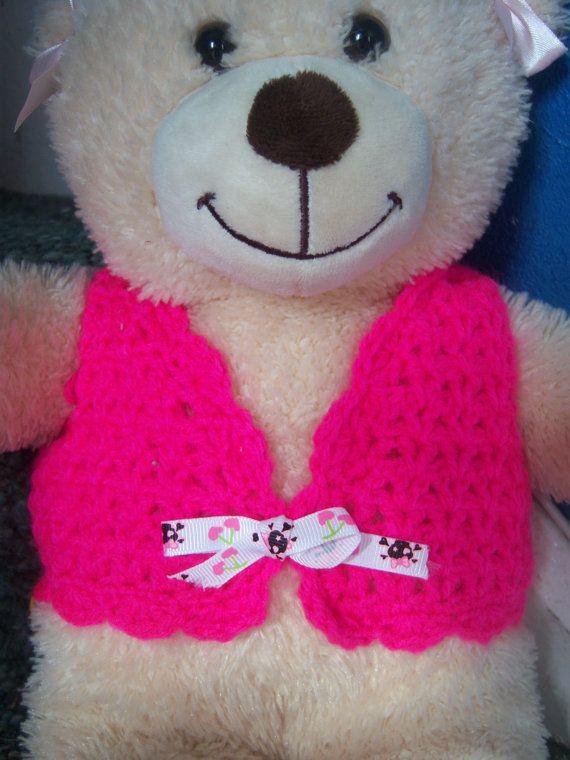 Crochet sweater vest. Build A Bear clothes. Handmade by ddonald63, USD3.00 Bu...