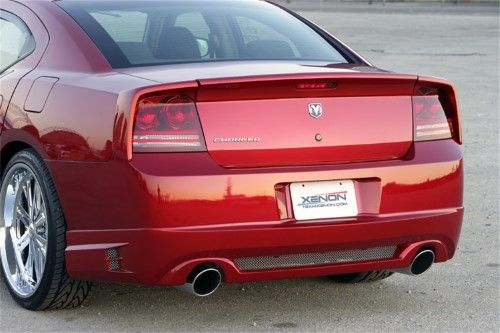 Xenon 12614 Rear Valance W Dual Exhaust Openings Includes Mesh Urethane Paintable Dodge Charger Dodge Charger