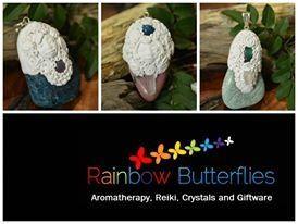 Clay pendants  www.rainbowbutterflies.com.au