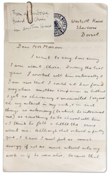 Alan Turing Letter Christopher Morcom Mother