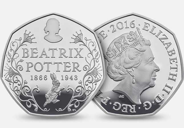 The Royal Mint is to issue a beautiful new coin celebrating Beatrix Potter featuring Peter Rabbit.