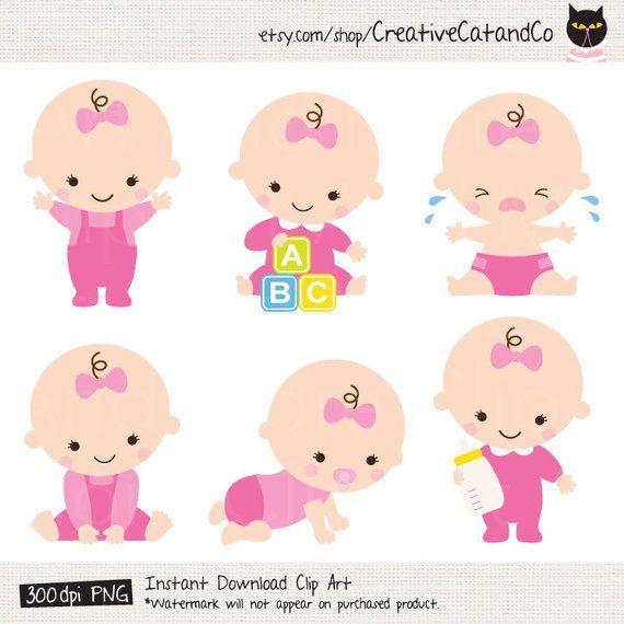 Baby Girl Clipart Baby Girl Clip Art Baby Girl Shower Clipart Cute