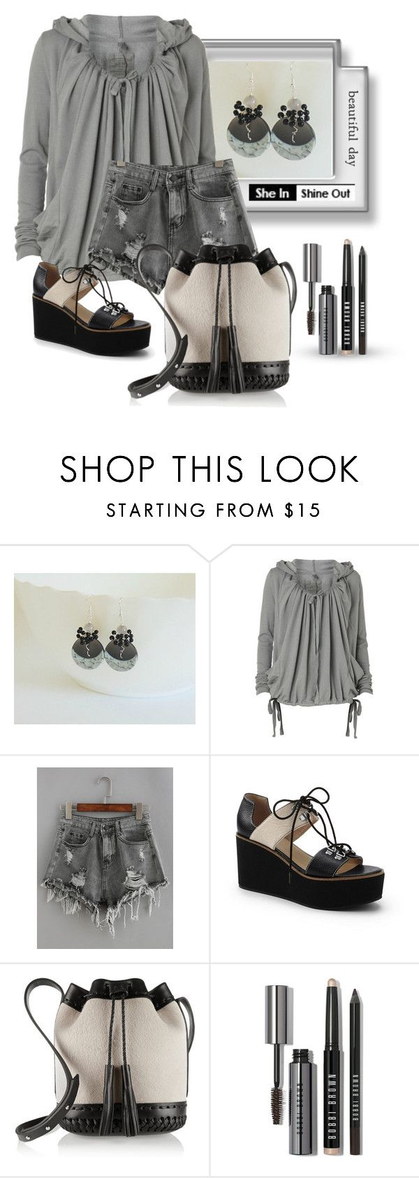 """WIN SHEIN GREY SHORTS"" by styledonna on Polyvore featuring moda, AllSaints, Lands' End, Wendy Nichol i Bobbi Brown Cosmetics"