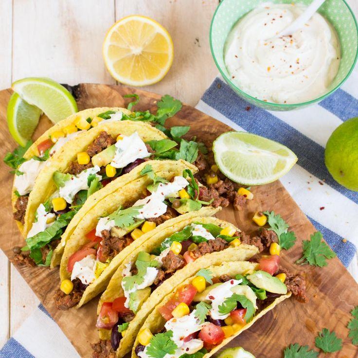 Vegane Tacos mit Linsen-Walnuss Füllung