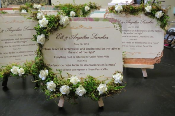 Table Signs Do Not Take Centerpieces Wedding Cards