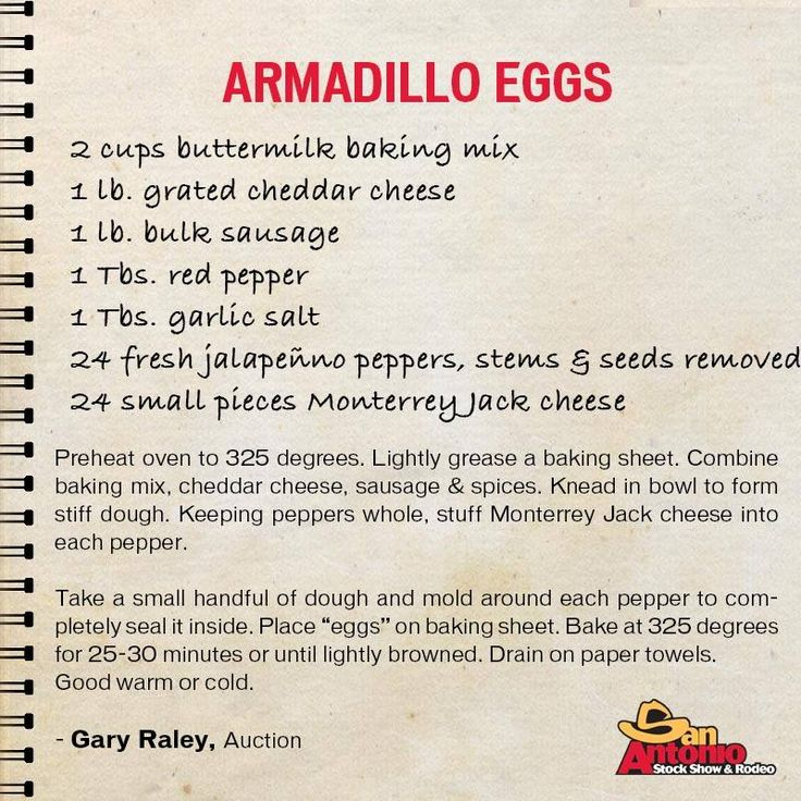 Armadillos don't lay eggs? In Texas they do and they're delicious! Copycat Armadillo Eggs from the San Antonio Stock Show & Rodeo