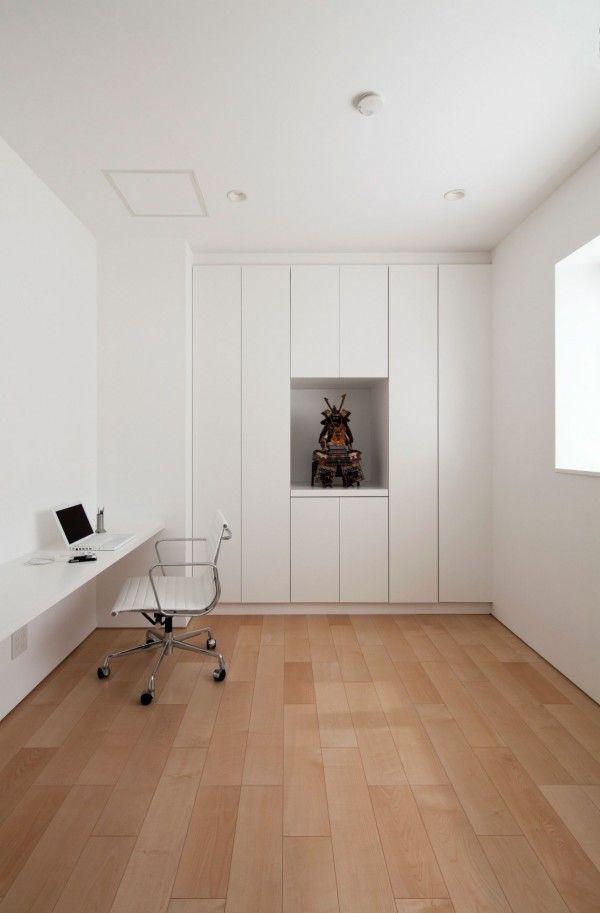 Work Space from White Modern Interior Design by RCK Design in Tokyo 600x913 White Modern Interior Design by RCK Design in Tokyo