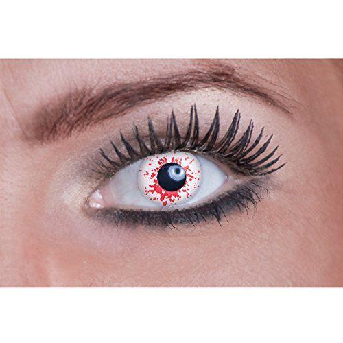 Eyecatcher Color Fun, Farbige Kontaktlinsen, Blutunterlaufene Linsen, Version 3, Jahreslinsen weich, 2 St�ck / BC 8.6 mm / DIA 14.5 mm / 0.00 Dioptrien