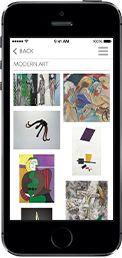 muzeum ma 2 ciekawe apliakcje: 1. pozwala przegladać zbiory muzeum, zdjęcia i filmy artystów, powiązania dziel sztuki z innymi dziedzinami sztuki, plan pomagający odnależc te dzieła, 2 aplikacja zawiera propozycje różnych wycieczek po muzeum, można wybierać wdlug tematu, czasu jaki sie ma na zwiedznie,