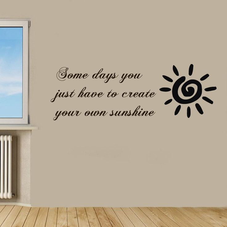 Wall Decals Quote Create Your Own Sunshine Vinyl Sticker Murals - Create your own vinyl wall decals