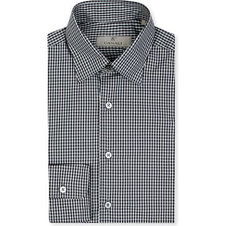 CANALI Ombre check pattern