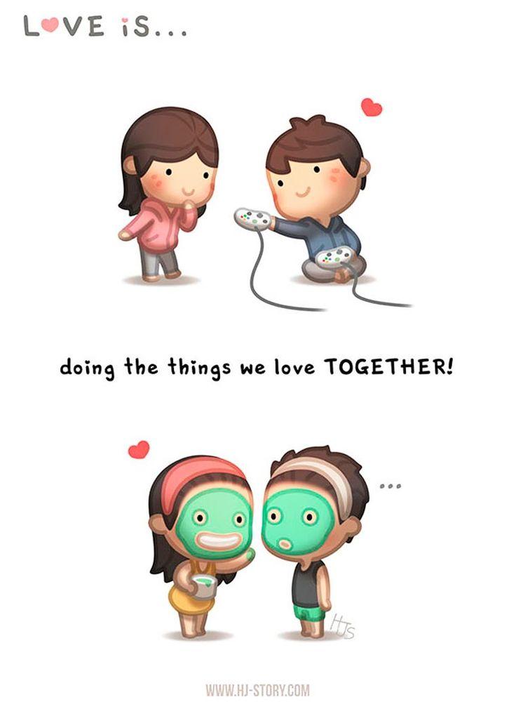 Dans la lignée de la série Love Is, voici les illustrations adorables d'Andrew Hou, un jeune mari qui s'amuse à démontrerson amour dans des illustrations