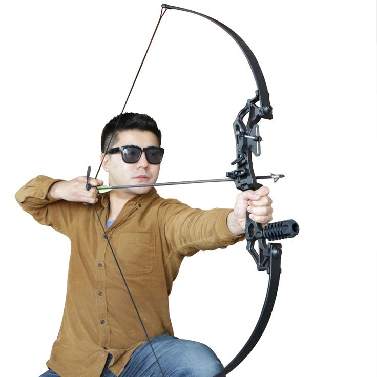 Hot Sale 30lbs 40lbs Archery Bows Black Color Hunting Bow for Target Shooting or Practicing