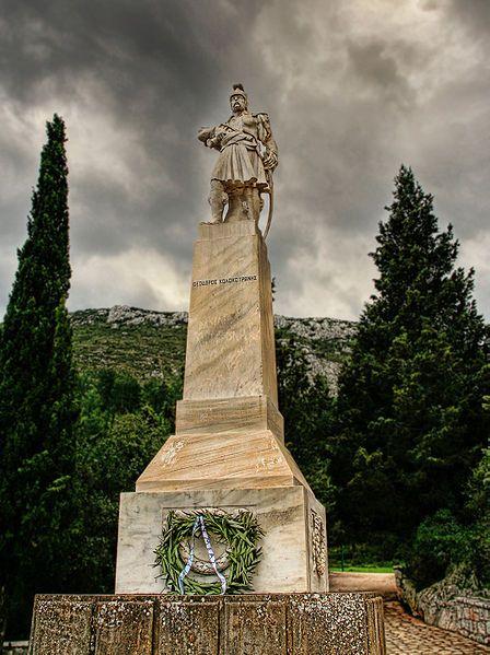 Statue of Kolokotronis at Dervenakia.