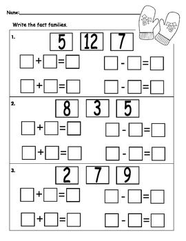 1000+ images about math ~ fact families on Pinterest | Fact families ...