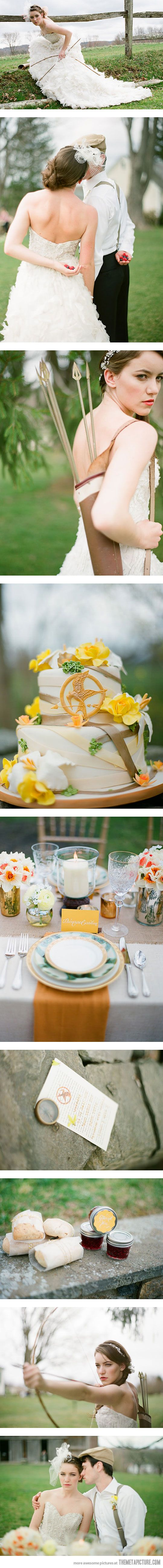 What pictures represent katniss everdeen yahoo answers - The Hunger Games Themed Wedding