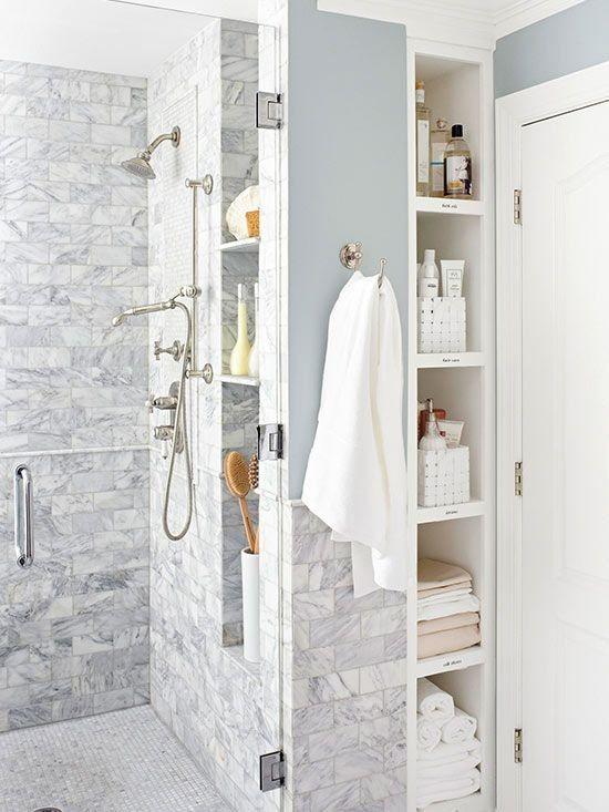 Die besten 25+ Bathroom recessed shelves Ideen auf Pinterest - wohnzimmer vorwand mit deko nische