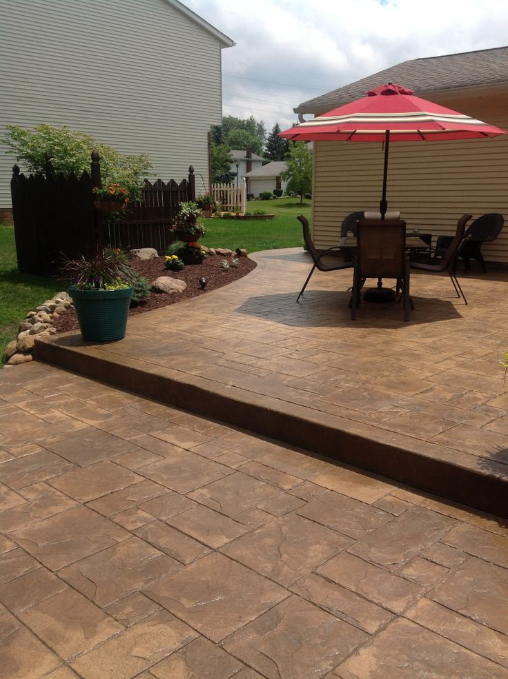 27 best stamped concrete photos images on pinterest for Garden decking hinckley