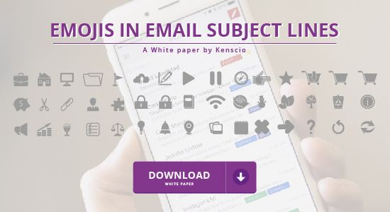 What's the effect of using #emojis in #EmailSubjectLines? Does the answer vary from country to country? This white paper by Kenscio explains everything about emojis and their use in email subject lines #EmailMarketing #Emails #EmailMarketingSuccess