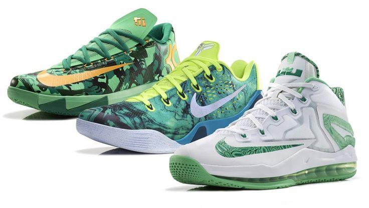 The 2014 Nike Basketball Easter Collection KD VI, KOBE 9 EM and LEBRON 1...