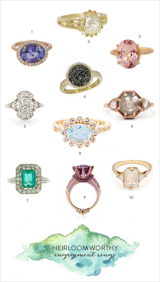 Fresh heriloom worthy engagement rings