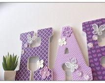 Lilac Nursery. Lavender. Butterflies.Baby Girl Nursery decor. Wood Letters. Purple. Grey. Wood Letters. Butterflies. Nursery. Butterfly.