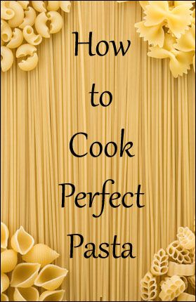 HOW TO COOK PERFECT PASTA 1) Start with the best pasta you can find. 2) Use ample water for boiling. 3) Salt the water well. 4) Do not add oil to the water. 5) Stir the pasta after a minute or so of cooking. 6) Take the pasta off the heat just before it reaches al dente. 7) Reserve some of the pasta cooking water to add to your sauce. 8) Toss hot pasta with sauce quickly.