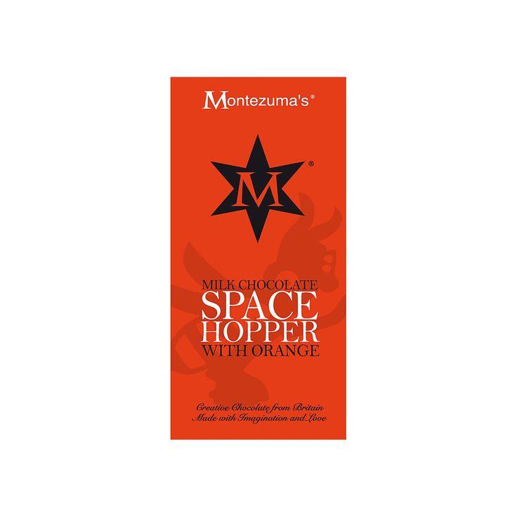 Tableta de Ciocolata Space Hopper #montezumas #ciocolata #ciocolatalapte #portocale #dulciuri #cadouri #ideicadouri