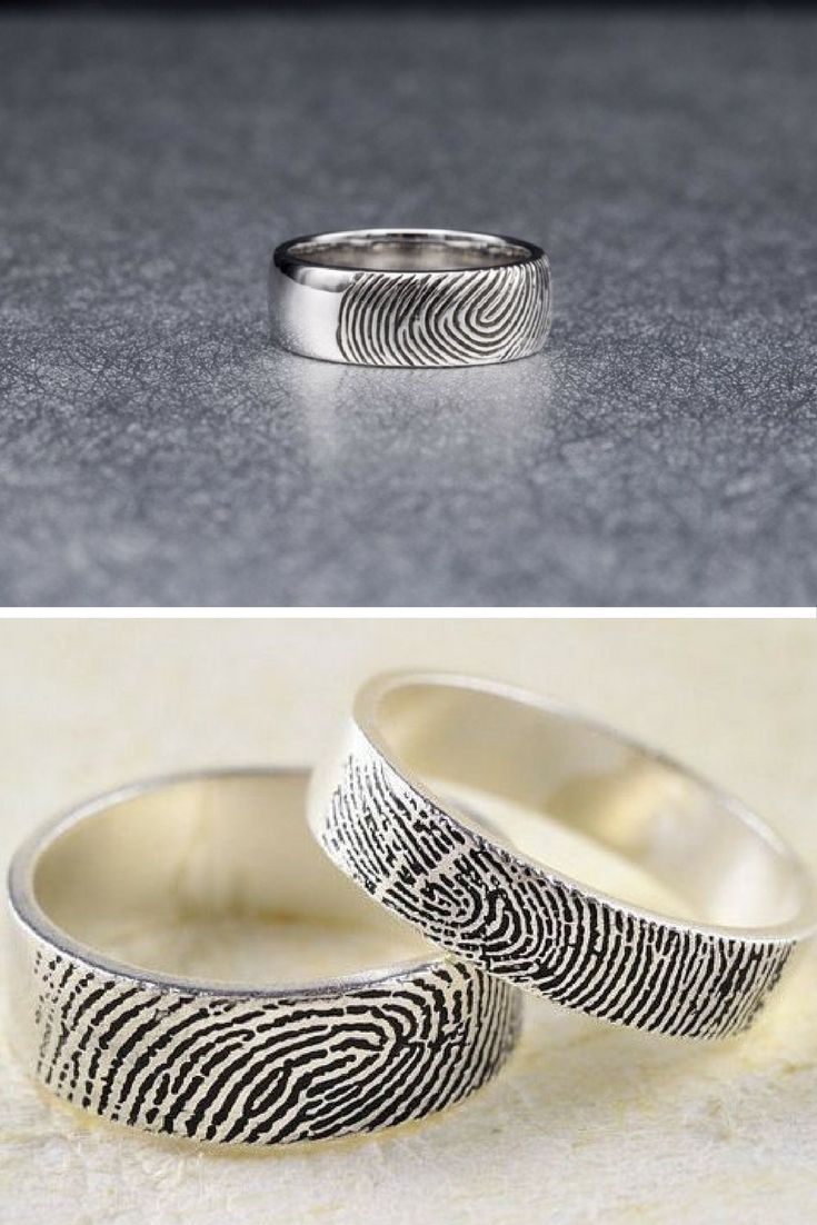 You can customise every part of your wedding ceremony, so why not your wedding ring? These fingerprint wedding rings are perfect for adding a personal touch to your big day.