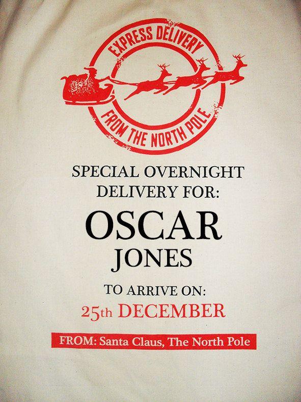 Personalised Santa sack / personalised heirloom by Scriptingle, £15.00