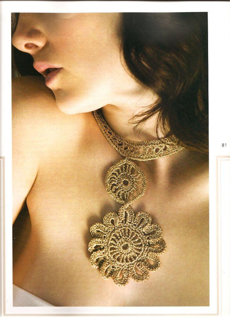 PATRONES GRATIS DE CROCHET: Patrón de un bello collar estilo vintage a crochet