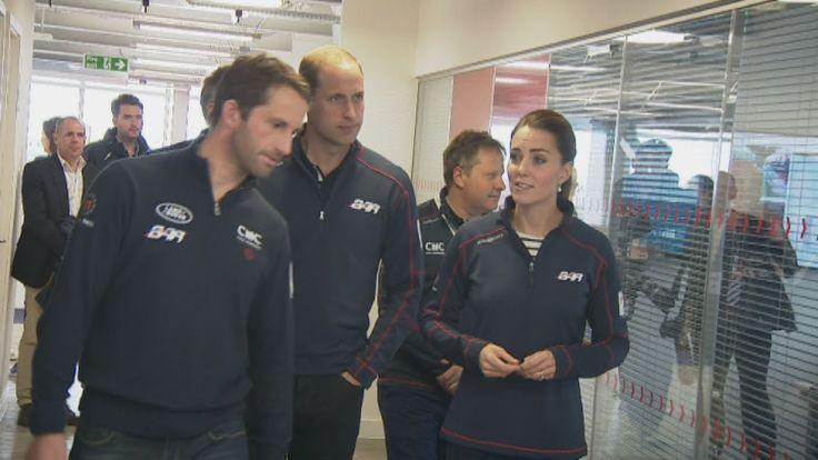 The Duchess of Cambridge tries out a sailing simulator
